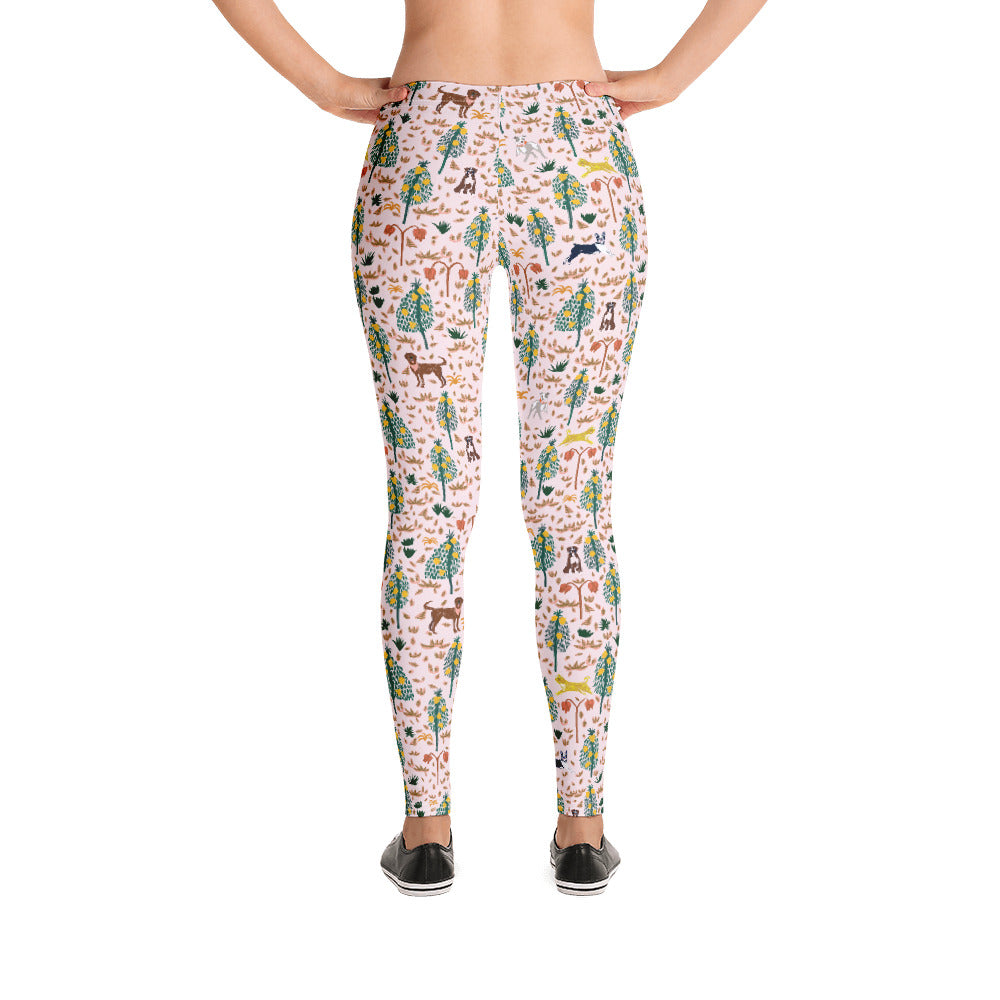 Pink Jungle Dogs Leggings