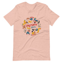 Dog moms unite pink t-shirt