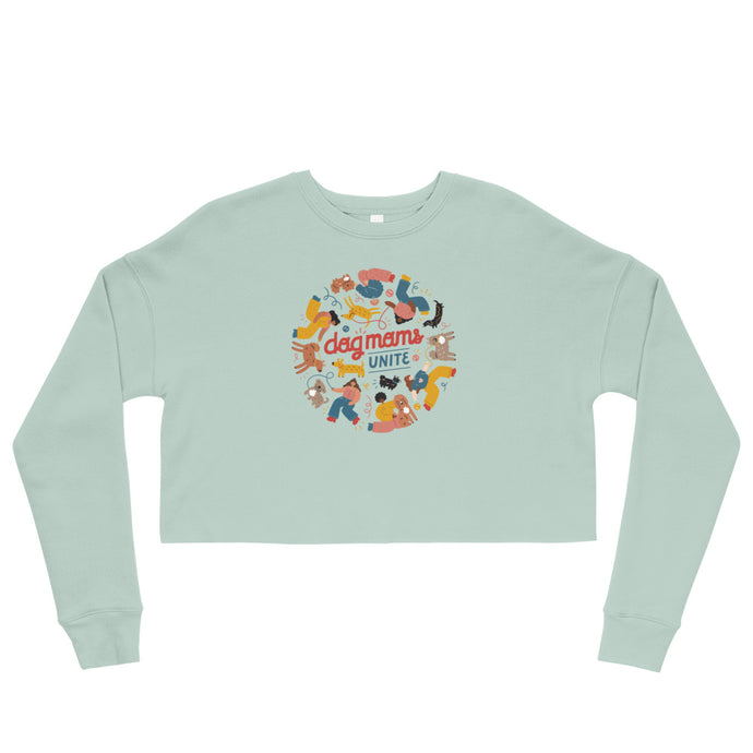 Dog Moms Unite Crop Sweatshirt