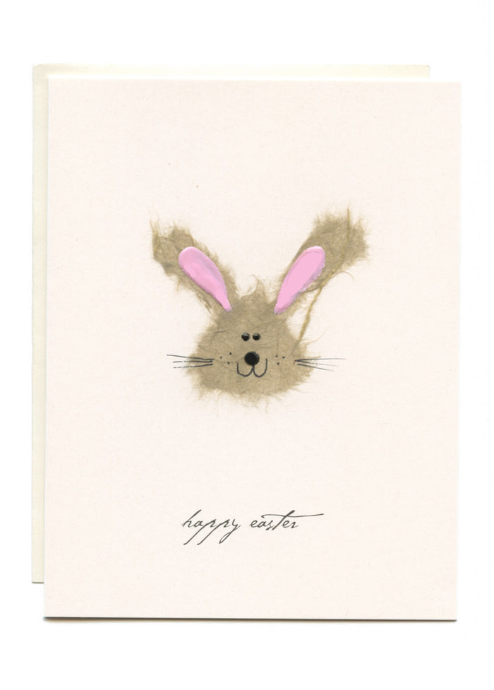 """Happy Easter"" Bunny Greeting Card"