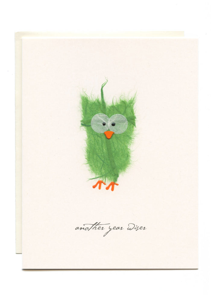 """Another Year Wiser""  Green Owl"