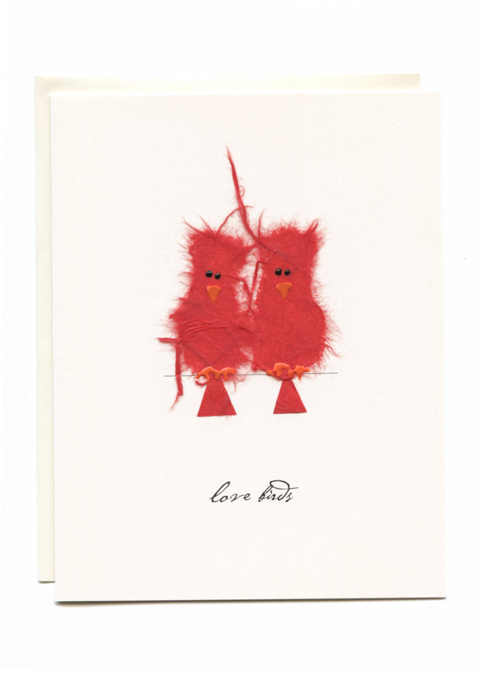 """Love Birds"" 2 Red Birds"