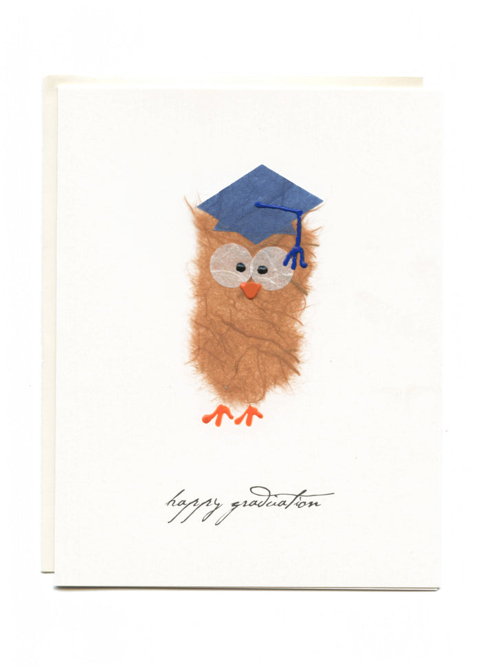 """Happy Graduation""  Owl with Grad Cap"