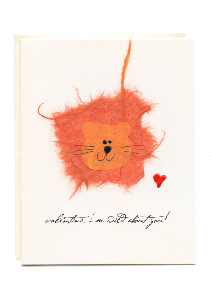 """Valentine, I'm Wild About You""  Lion"