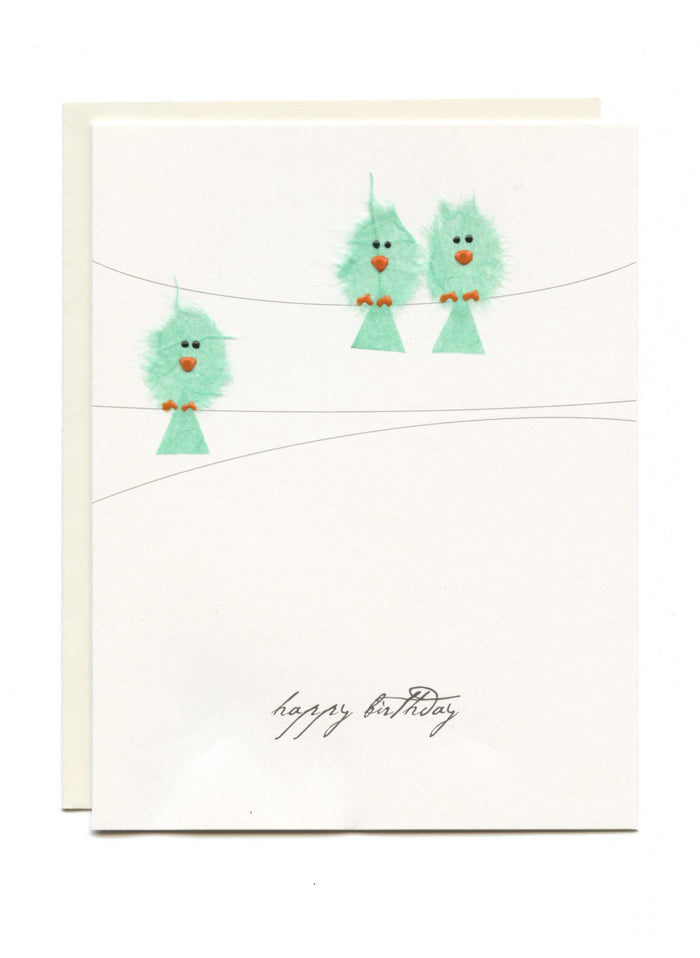 """Happy Birthday"" Birds on Wires"