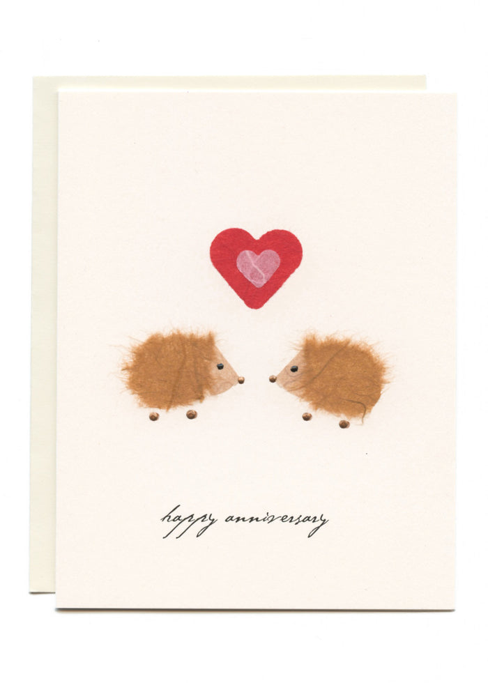 """Happy Anniversary"" Hedgehogs in Love"