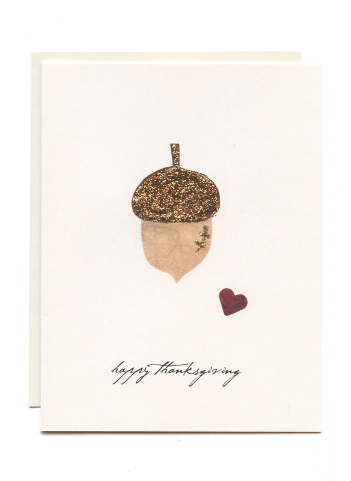 """Happy Thanksgiving""  Acorn"