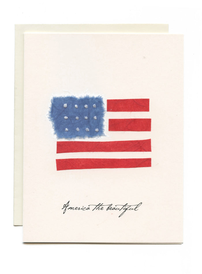 """America the Beautiful"" Stars and Stripes Flag"