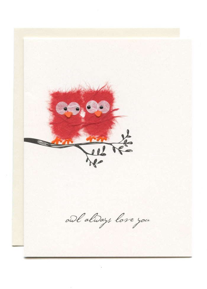 """Owl Always Love You""  Two Red Owls"