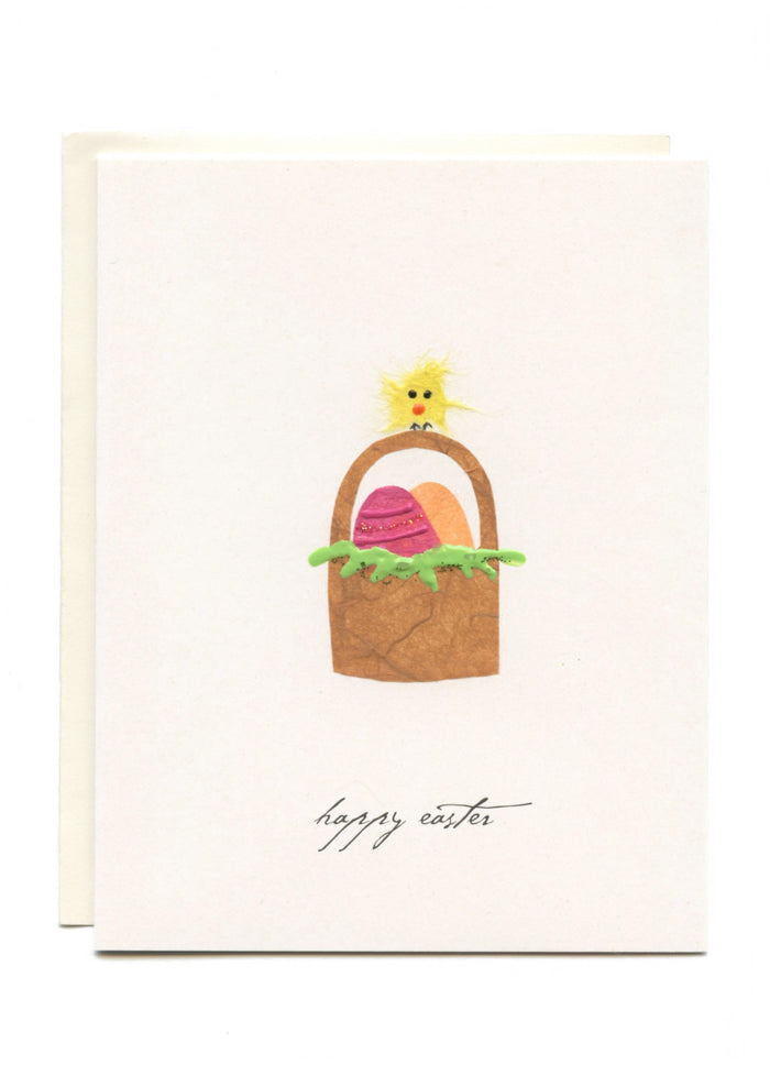 """Happy Easter""  Bird on Basket"