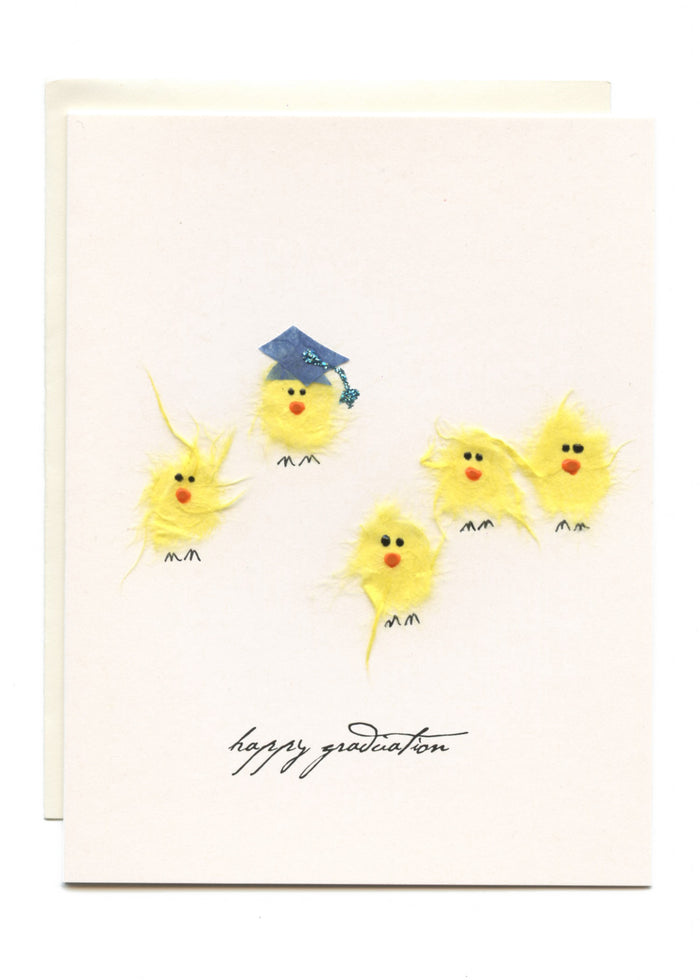 """Happy Graduation""  5 Chicks and a Grad Cap"