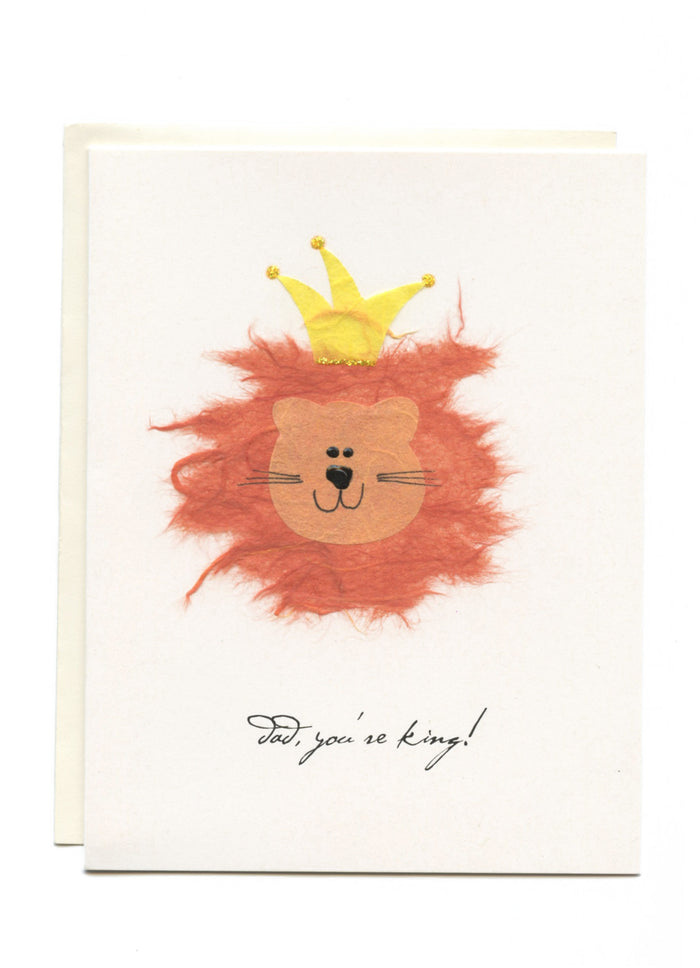 """Dad You're King!"" Greeting Card"