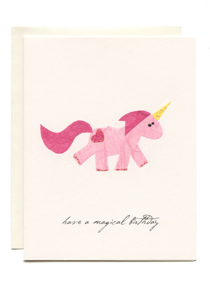 """Have a Magical Birthday"" Pink Unicorn"
