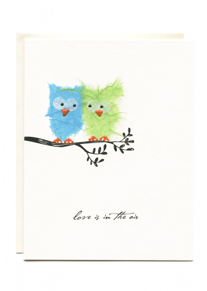 """Love Is In The Air""  2 Owls on Branch"