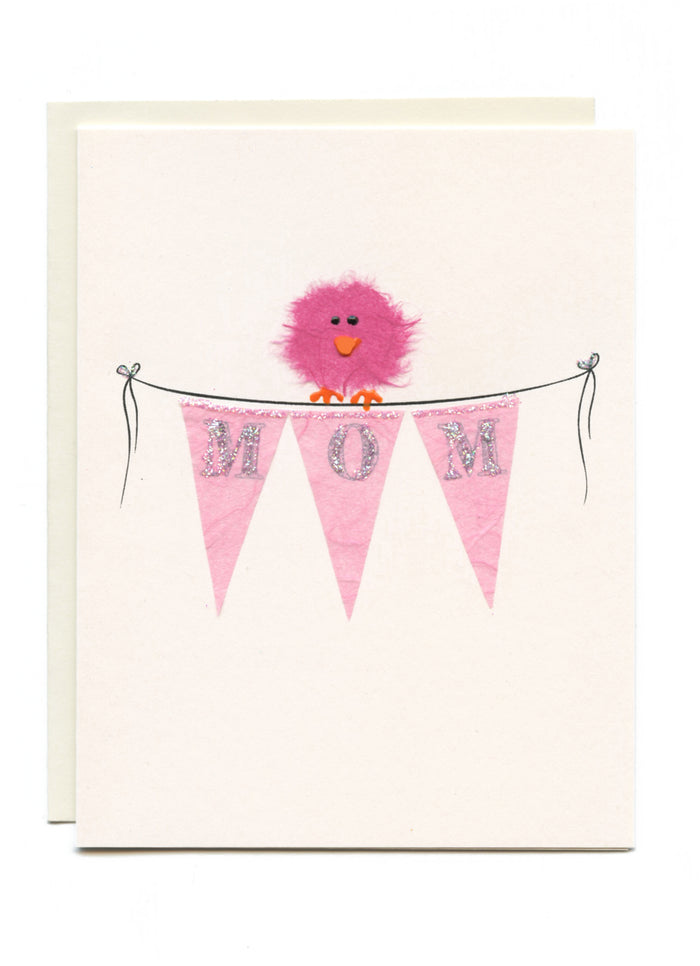 """MOM"" Bird on Banner"