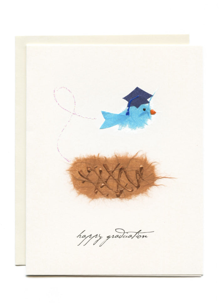 """Happy Graduation""  Bird Flying Nest"