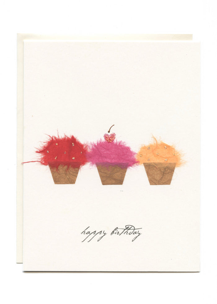 """Happy Birthday"" Three Little Cupcakes"
