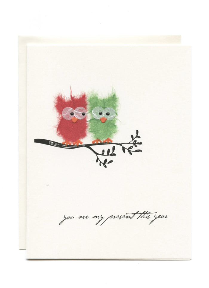 """You Are My Present This Year"" 2 Owls"