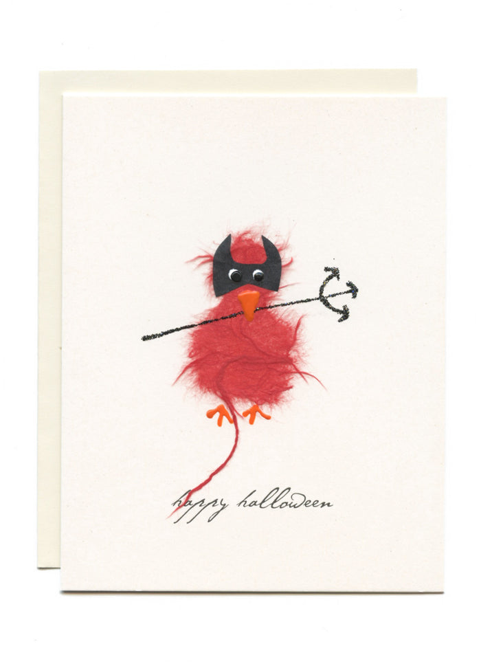 """Happy Halloween""  Red Bird as Devil"