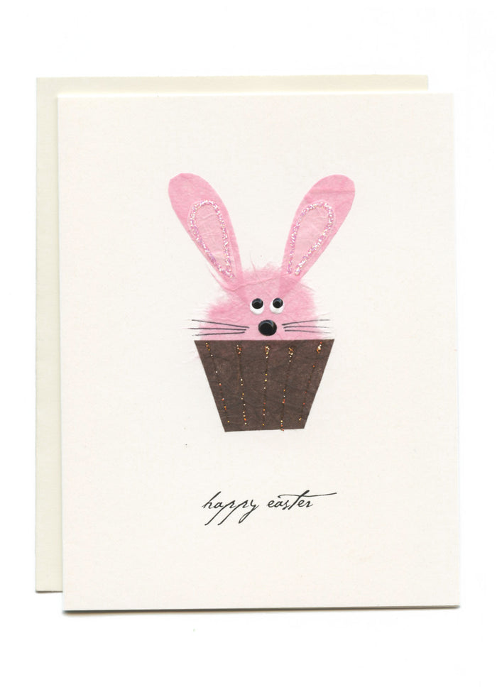 """Happy Easter"" Bunny Cupcake"