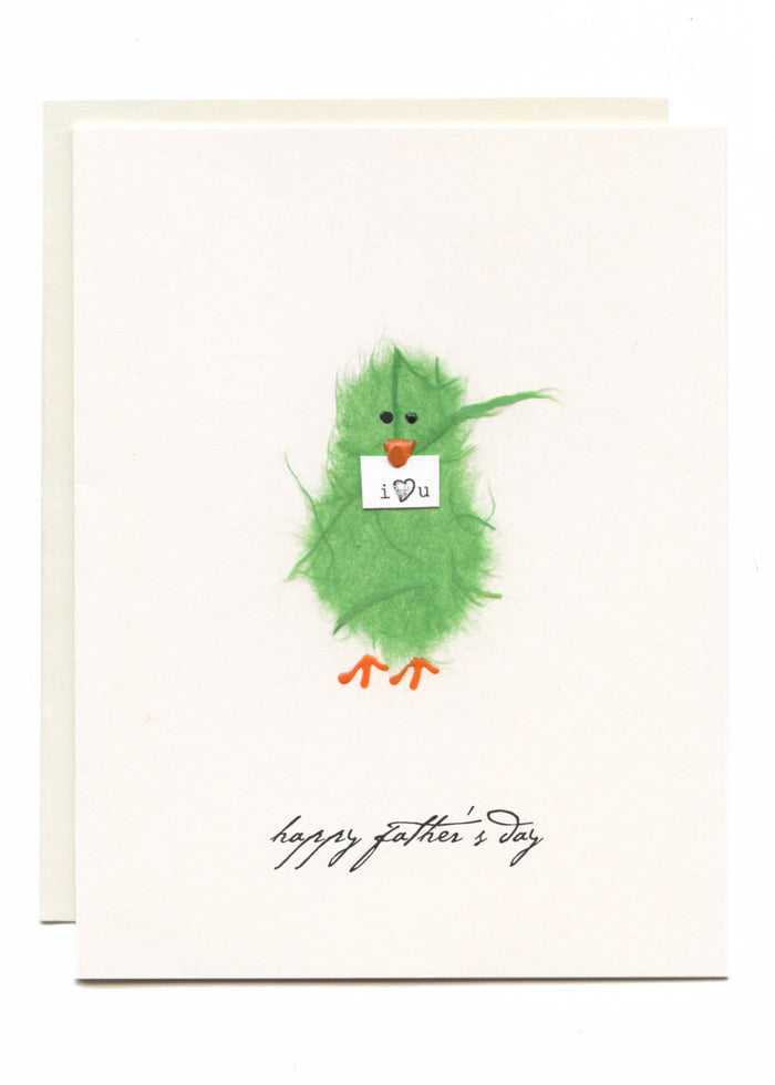 """Happy Father's Day - I Love You""  Green Bird"