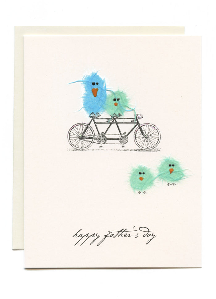 """Happy Father's Day""  Birds and Bike"