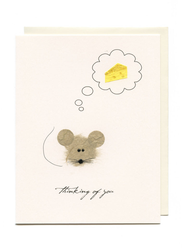 """Thinking of You""  Mouse with Cheese"