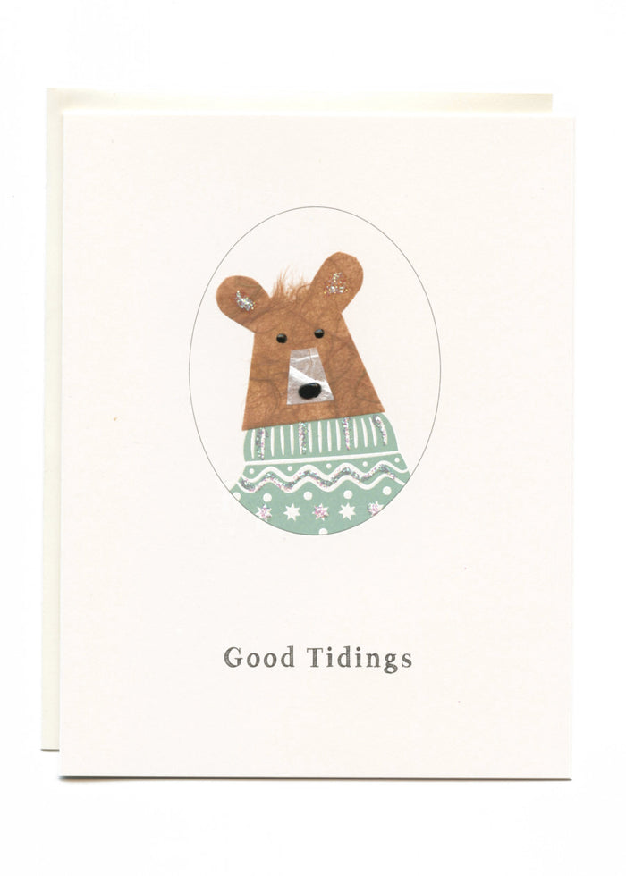 """Good Tidings""  Bear with Sweater"
