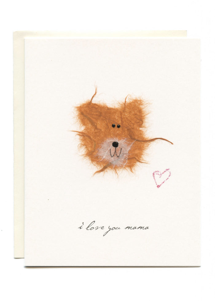 """I Love You Mama""  Bear with Heart"