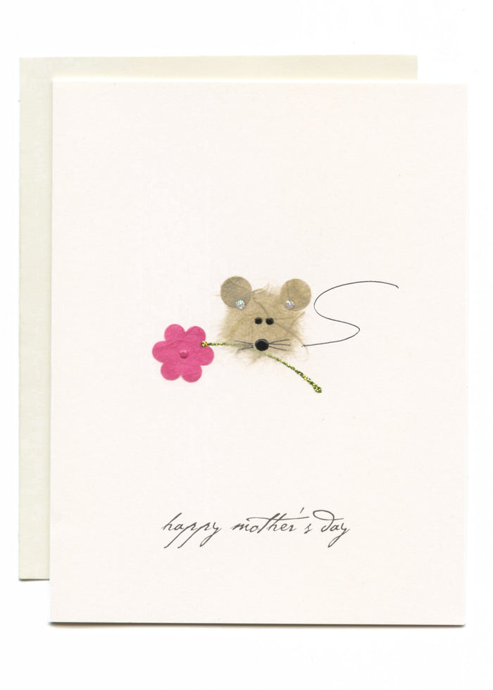 """Happy Mother's Day"" Mouse on Flower"