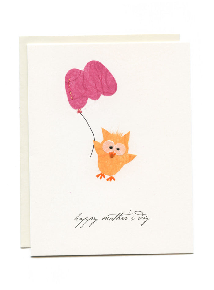 """Happy Mother's Day"" Owl with M Balloon"