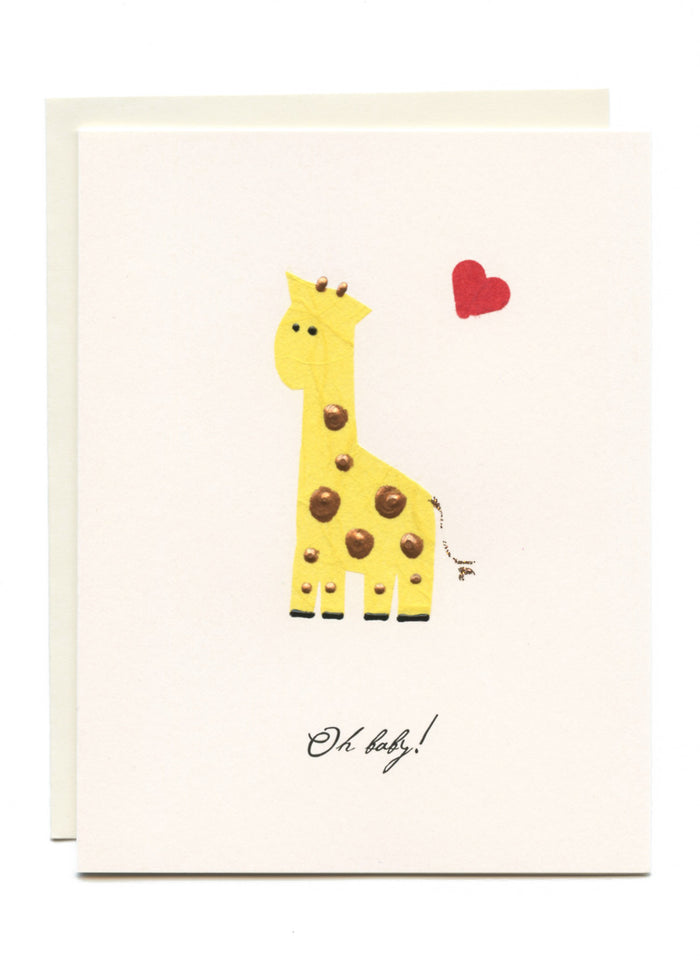 """Oh Baby!""  Yellow Giraffe"