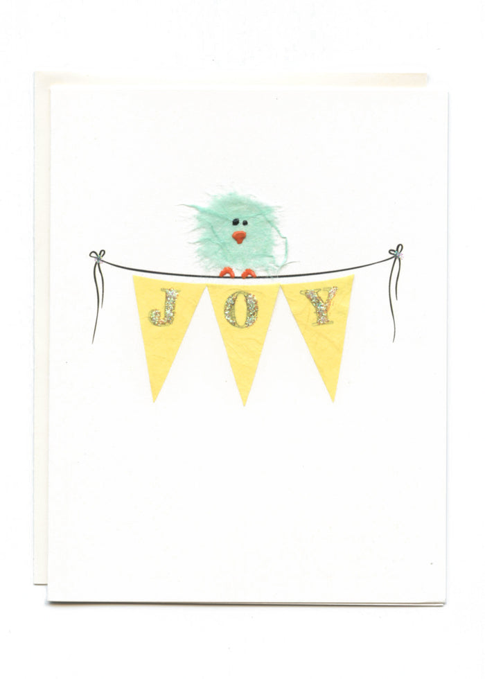 """JOY""  Bird on Banner"
