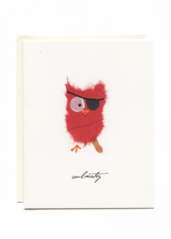 """Soulmatey""  Owl with Patch"