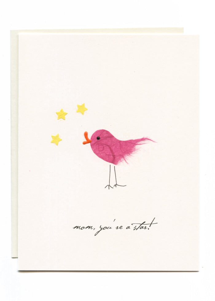 """Mom, You're a Star!""  Bird with Stars"