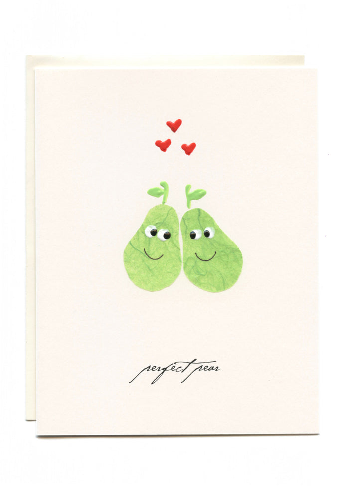 """A Perfect Pear""  Two Green Pears"