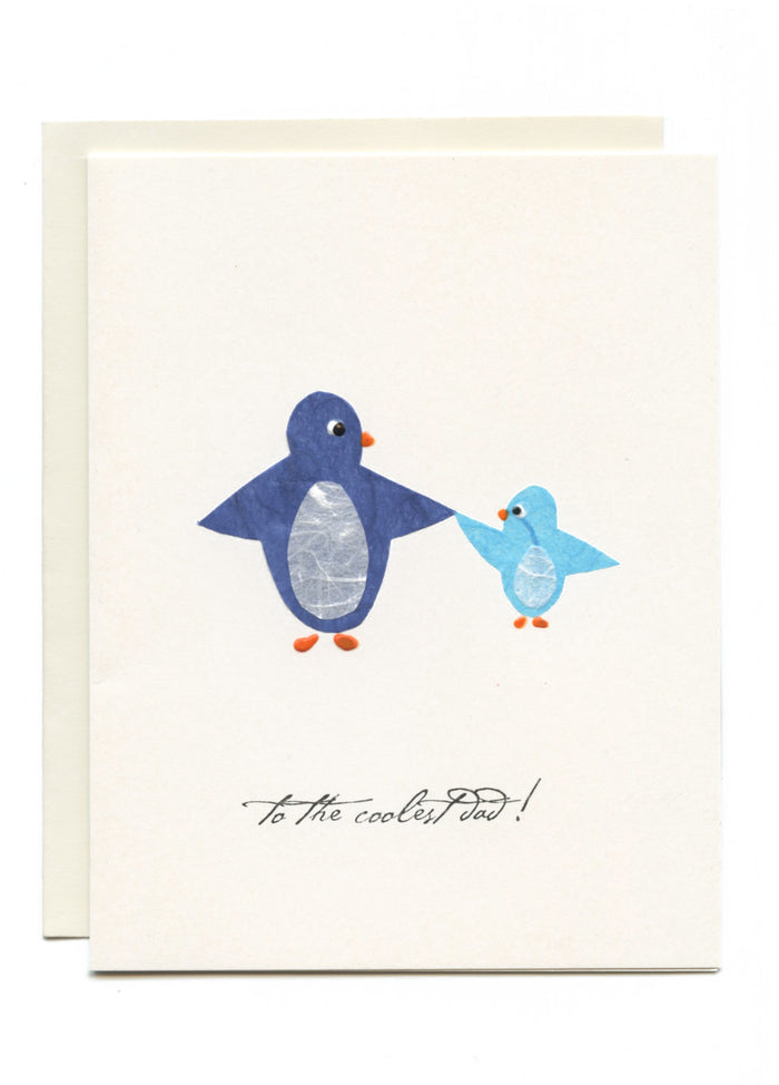 """To The Coolest Dad! Two Blue Penguins"