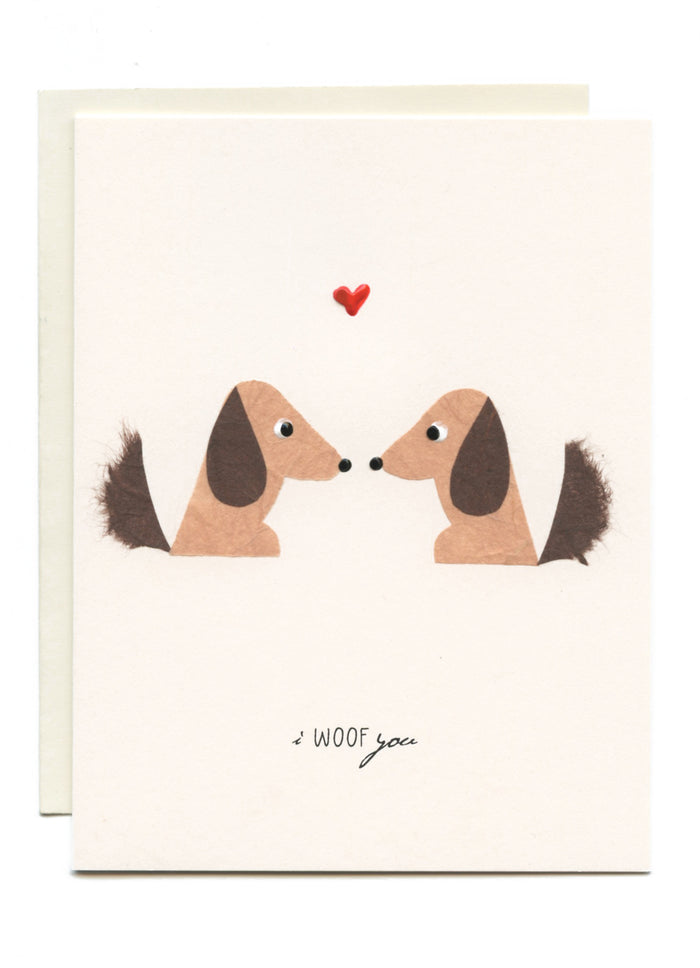 """I WOOF You"" Dogs in Love"