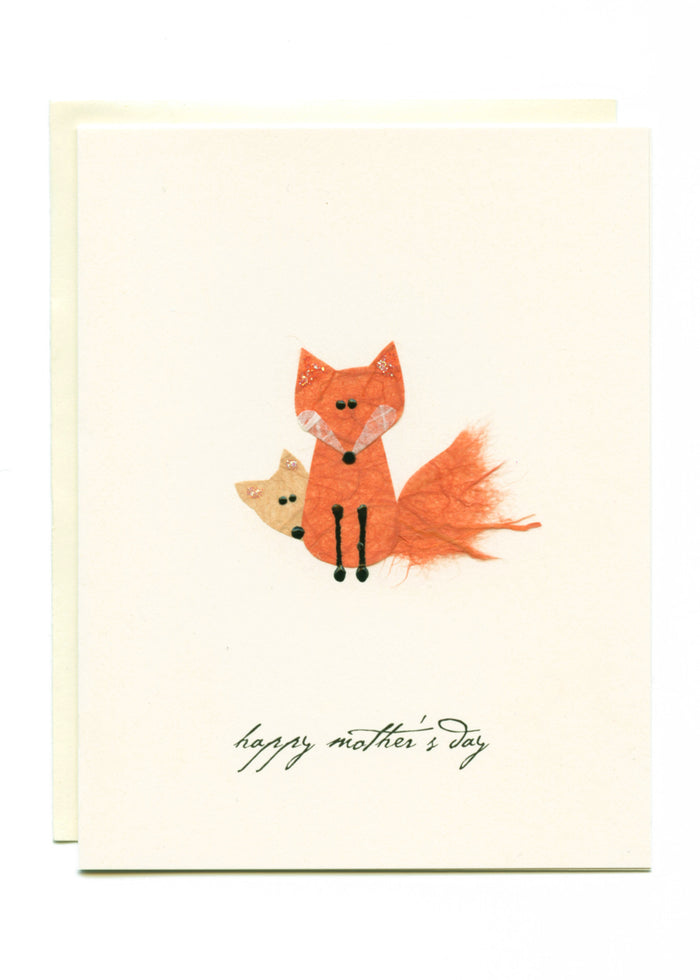 """Happy Mother's Day""  Foxes"