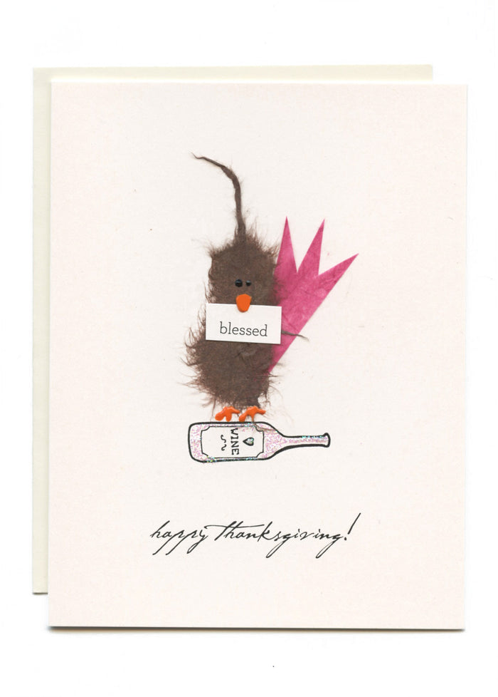 """Happy Thanksgiving - Blessed""  Bird on Wine"