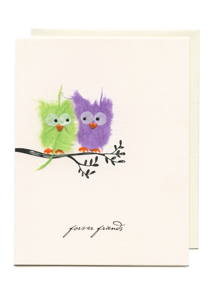 """Forever Friends""  Owls on Branch"