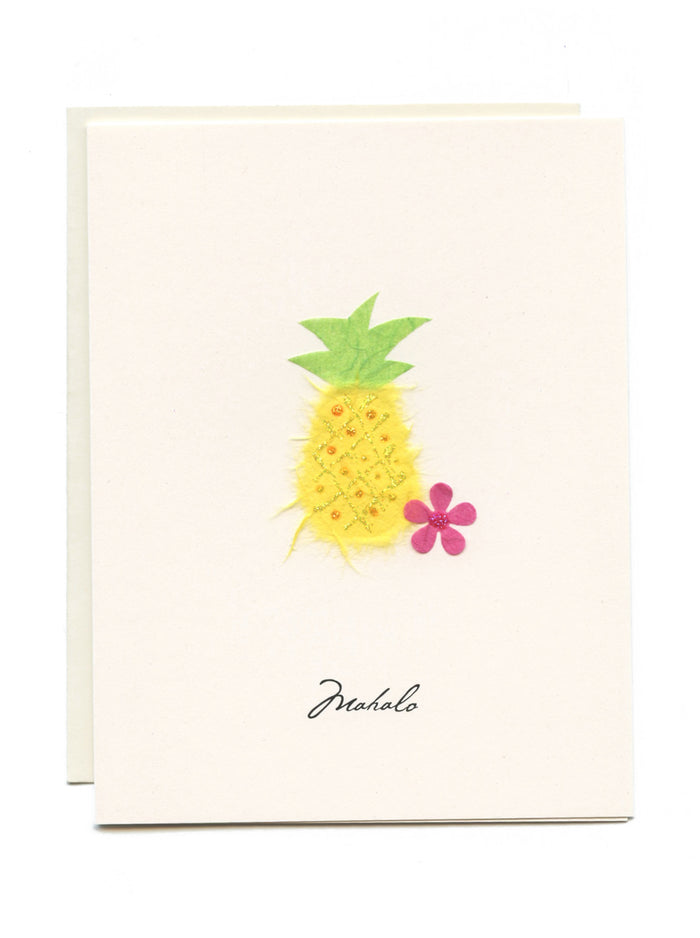 """Mahalo""  Pineapple and Flower"