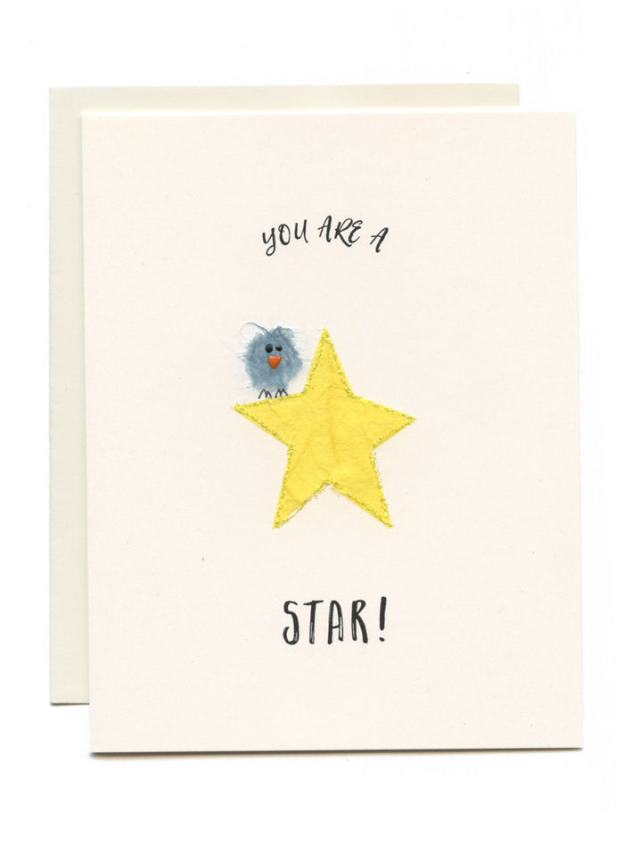 """You're a STAR! Bird on Star"