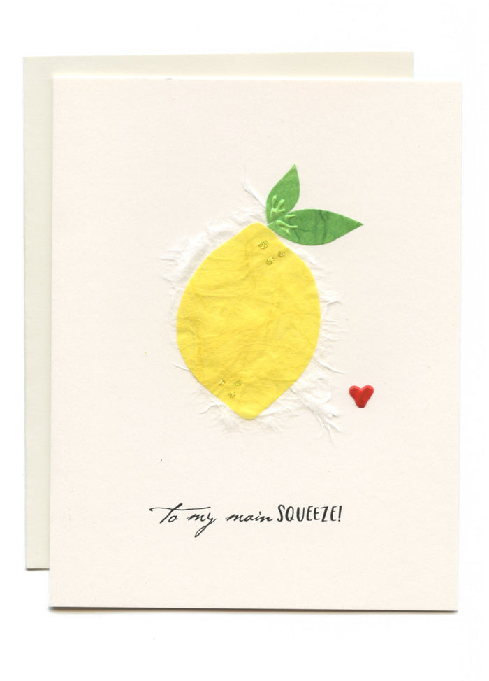 """To My Main SQUEEZE"" Lemon with Heart"