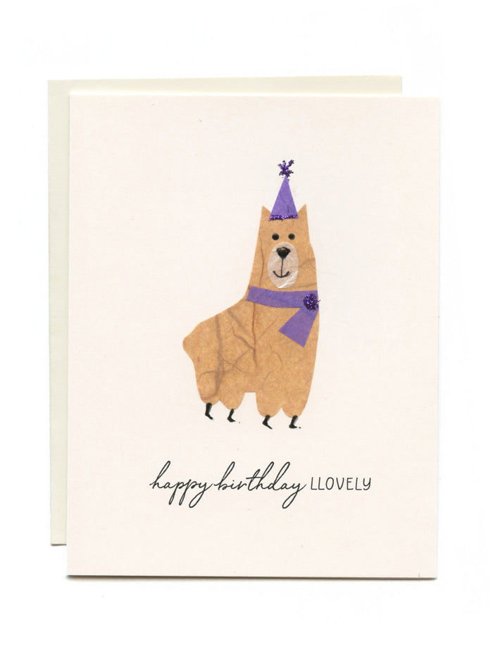 """Happy Birthday Llovely"" Llama"