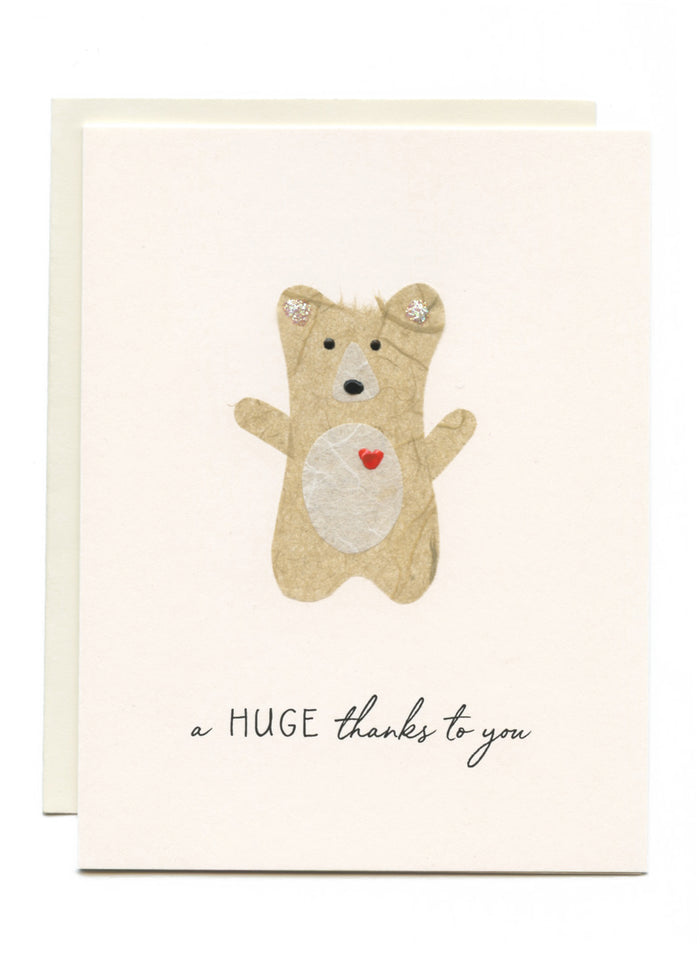 """A HUGE thanks to you"" Bear with Heart"