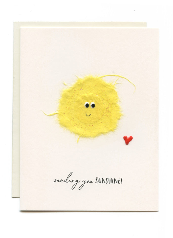 """Sending You Sunshine"" Sun with Heart"