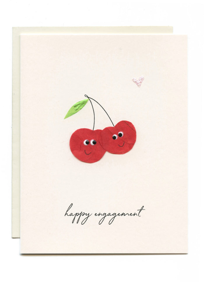 """Happy Engagement"" Two Cherries"
