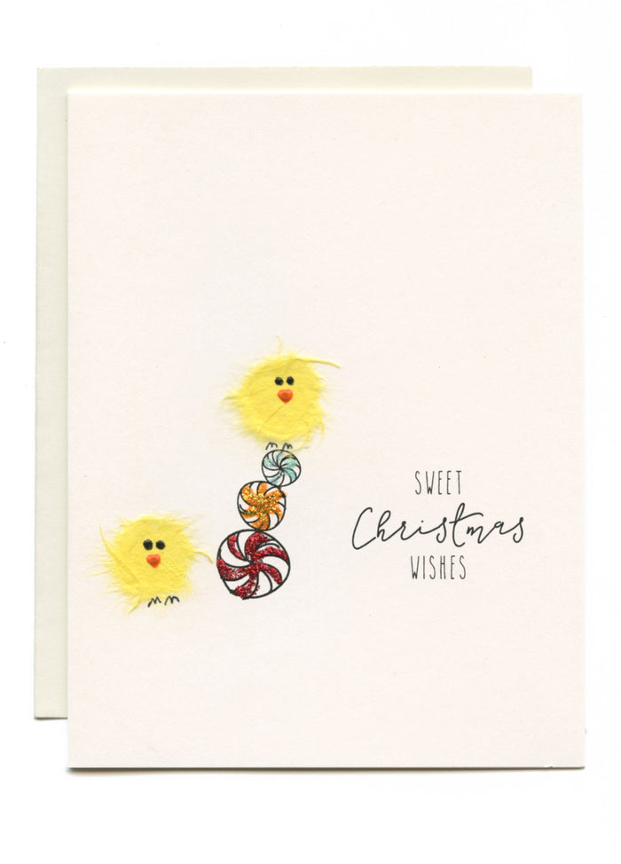 """Sweet Christmas Wishes"" Birds and Candy"