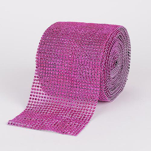 Fuchsia - Bling Diamond Rolls - ( 1-1/2 Inch x 10 Yards )